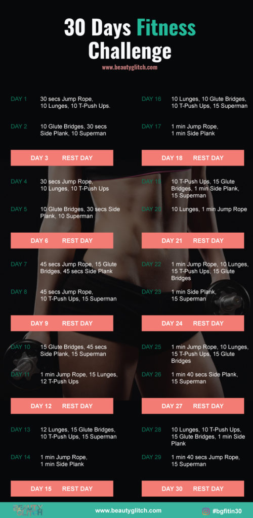 30 Days Fitness Challenge - I Dare You To Try It!