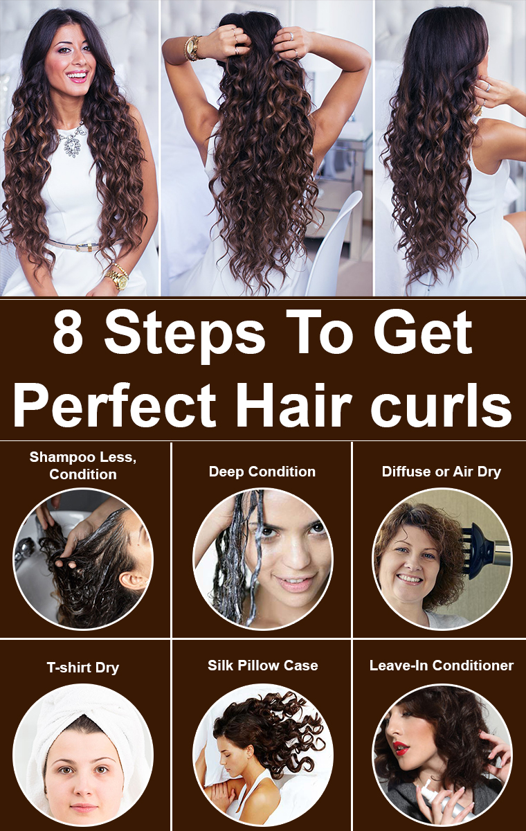 8 Steps To Get Perfect Hair curls