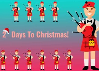 Eleven Pipers Piping - 2 Days To Christmas!