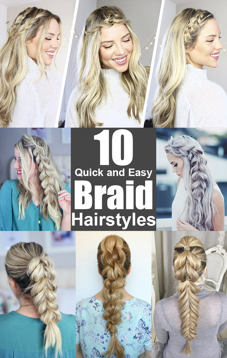 Easy Braid Hair Styles Unique Braid Styles Braids For Long Hair Braids For  Short Hair Easy