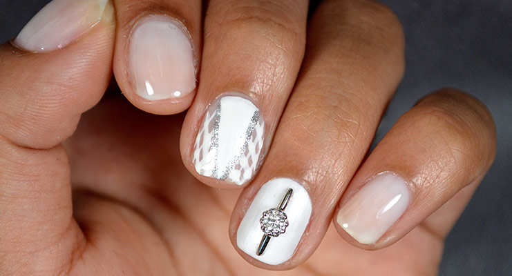 Wedding nail art designs bridal nail art pictures and ideas wedding nail art image fatimatti designs prinsesfo Images