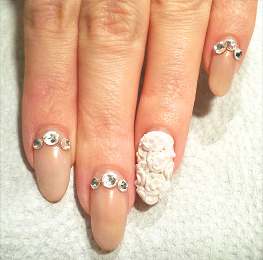 3D Gorgeous Wedding Nail Art Ideas