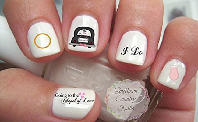 Wedding nail art designs bridal nail art pictures and ideas 12 easy wedding nail designs for the perfect bride prinsesfo Images