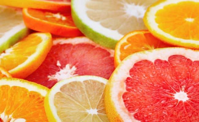Don't eat any citrus fruit on an empty stomach
